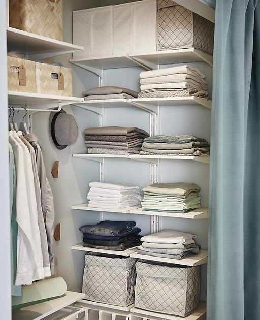 A walk in closet in a tricky space IKEA