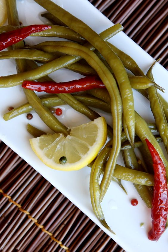 Spicy Pickled Green Beans | Green, This weekend and Photographs