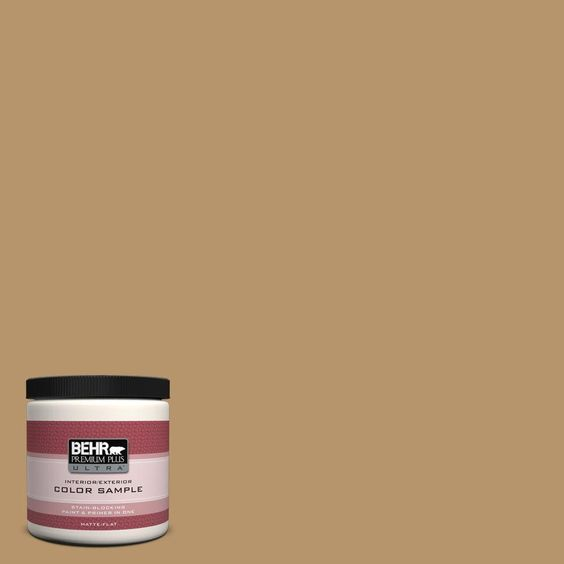 BEHR Premium Plus Ultra 8 oz. #bnc-15 Tapestry Gold Interior/Exterior Paint Sample