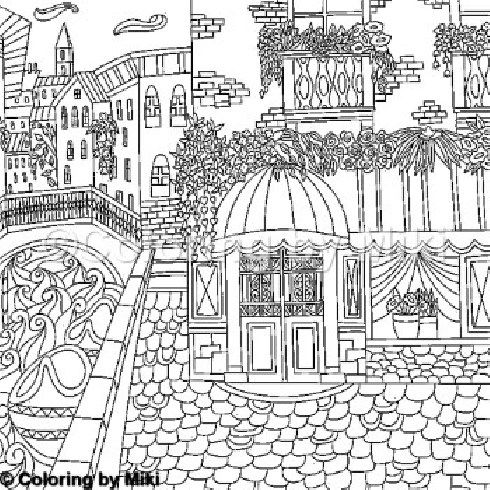 Italy Landscape Coloring Page 314 Coloring Pages Colorful