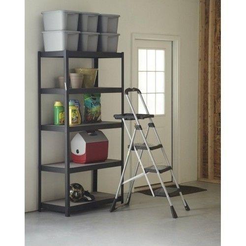 Step Ladder Garage Work Shop Stools Folding Sturdy Kitchen Bookshelf Cleaning #3StepLadder