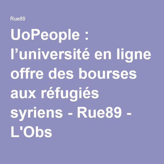 UoPeople: l'université en ligne offre des bourses aux réfugiés syriens - Rue89 - L'Obs