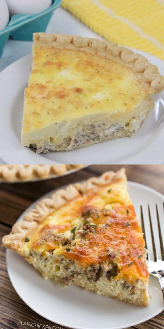 Sausage And Cream Cheese Quiche Recipe Video Quiche Recipes Cheese Quiche Recipe Breakfast Brunch Recipes