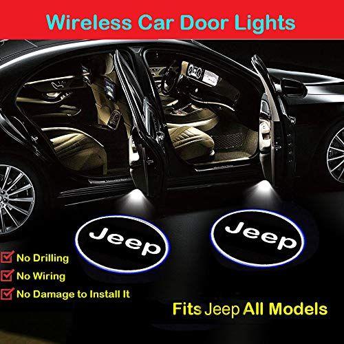 2pcs For Jeep Car Door Lights Logo Projector Led Car Door