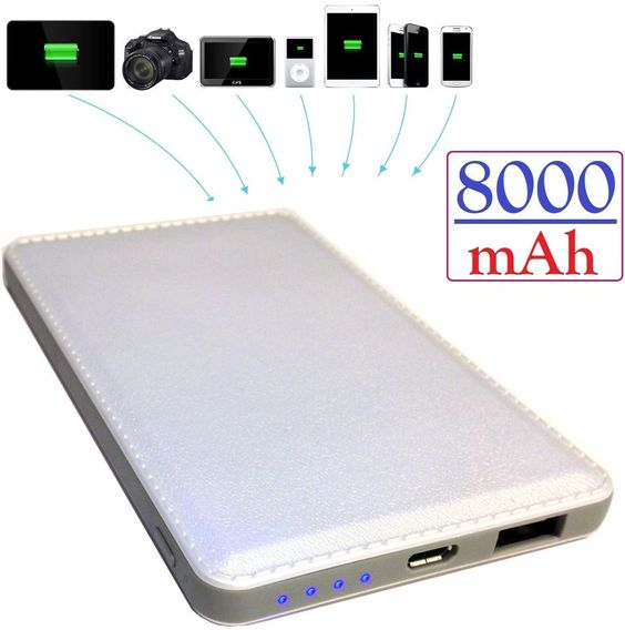 8000mAh Ultra-Compact High Capacity Portable Charger For Smart Phones.EIHGIFTS.COM