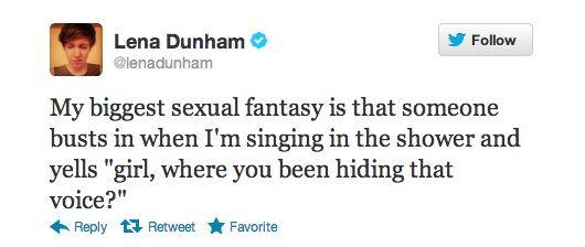 Lena Dunham's biggest sexual fantasy