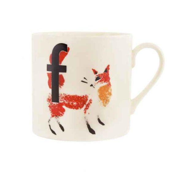 Fox Alphabet Mug
