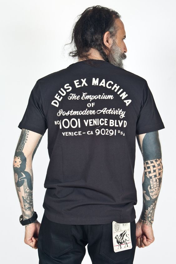 Deus Ex Machina - Venice Address Tee Black:
