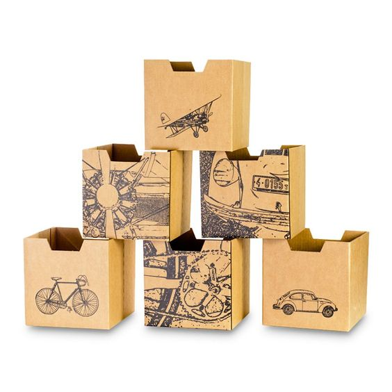 How cute are these? City Print Cardboard Cubby bins the Foundary $25.00