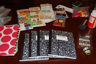 Make your own math journals