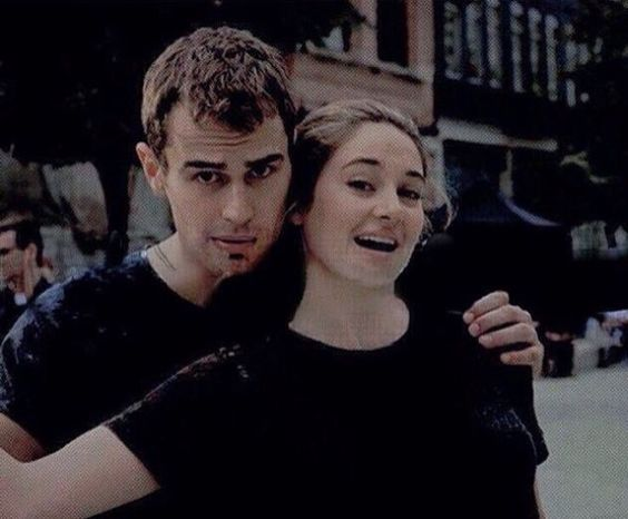 New/Old picture of Shai and Theo on the set of Divergent.