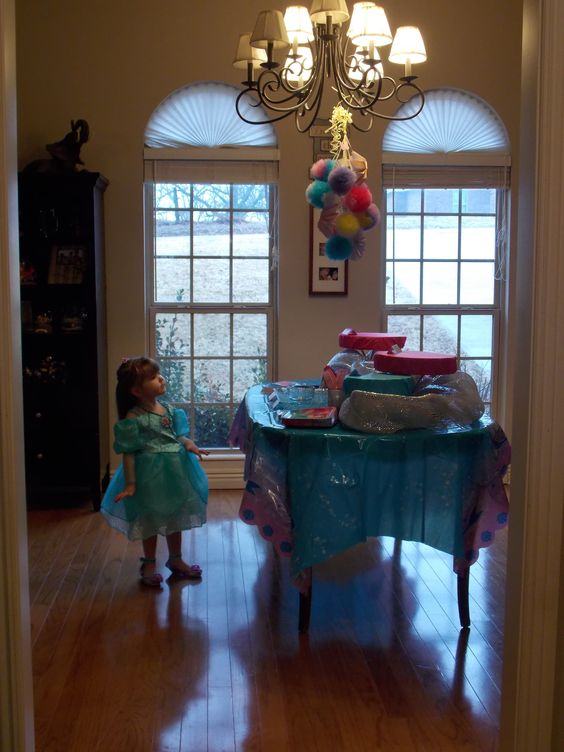 Birthday Princess checking out her Decorations