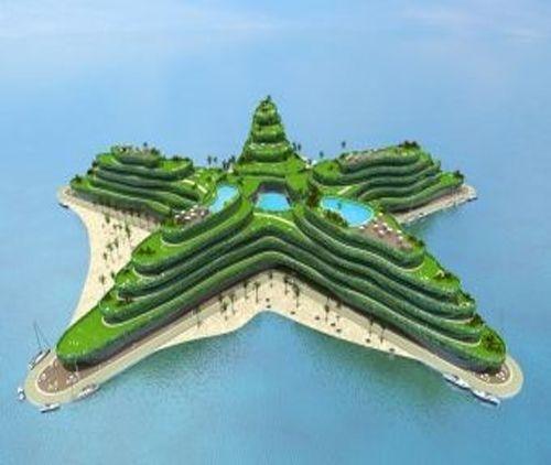 Un hotel - estrella flotando en el mar #Maldivas #SomosIEBS