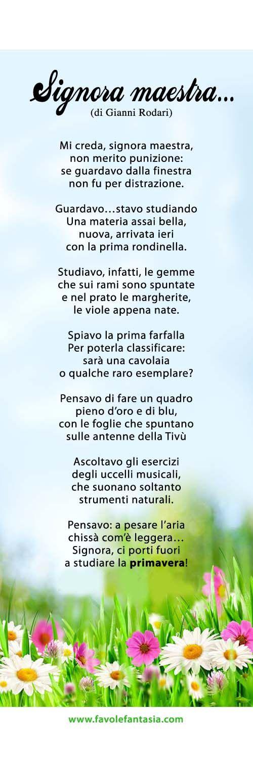 Signora maestra - Gianni Rodari: