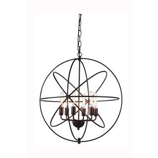 Elegant Lighting Vienna Collection 1453 Pendant lamp with Dark Bronze Finish
