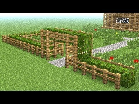 Minecraft How To Build Little Wooden Fence In 2020 Wooden Fence Minecraft Garden Diy Backyard