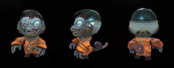 ArtStation - Baby Zombie Space Monkey, Tyler Hunter