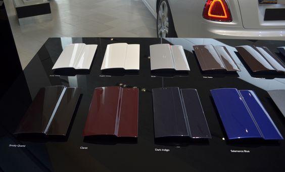 Lackmuster Rolls Royce im BMW MUSEUM München/ Color pattern Rolls Royce at BMW MUSEUM Munich