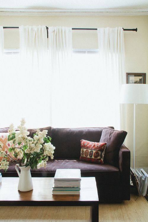 dark sofa + light everything else