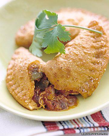 Spicy Chicken Empanadas Recipe -- Fry empanadas or bake at 375 degrees ...