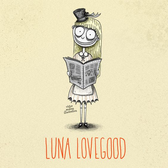 Luna Lovegood a lo Tim Burton, por Victor Medina | Blog Hogwarts: todo sobre Harry Potter