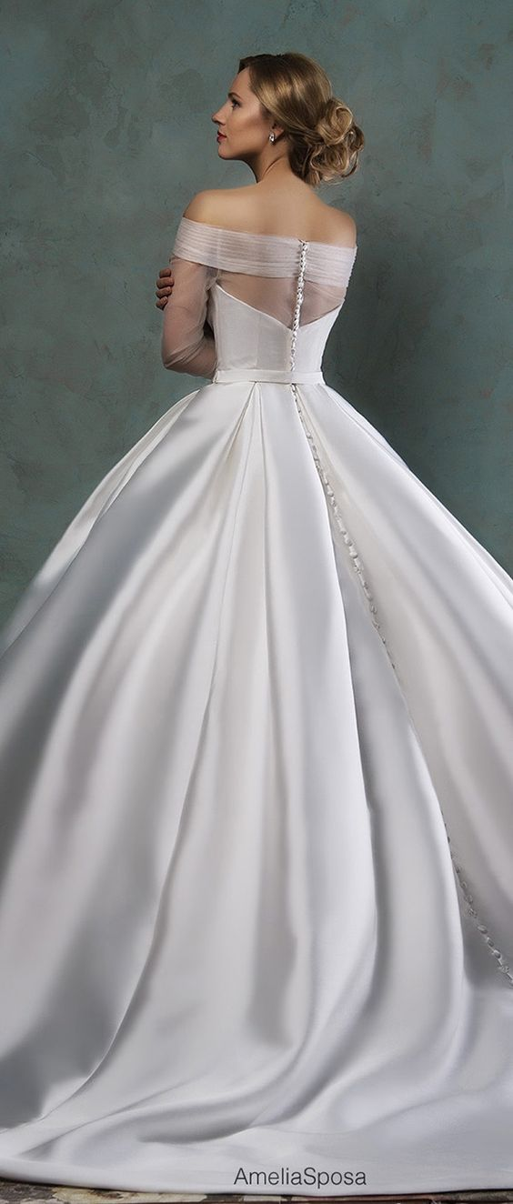 amelia sposa 2016 ball gown wedding dresses detailed back paolina