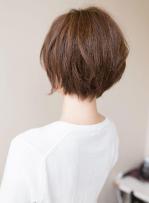 動きのあるショートボブ 髪型ショートヘア ヘアスタイル ショート
