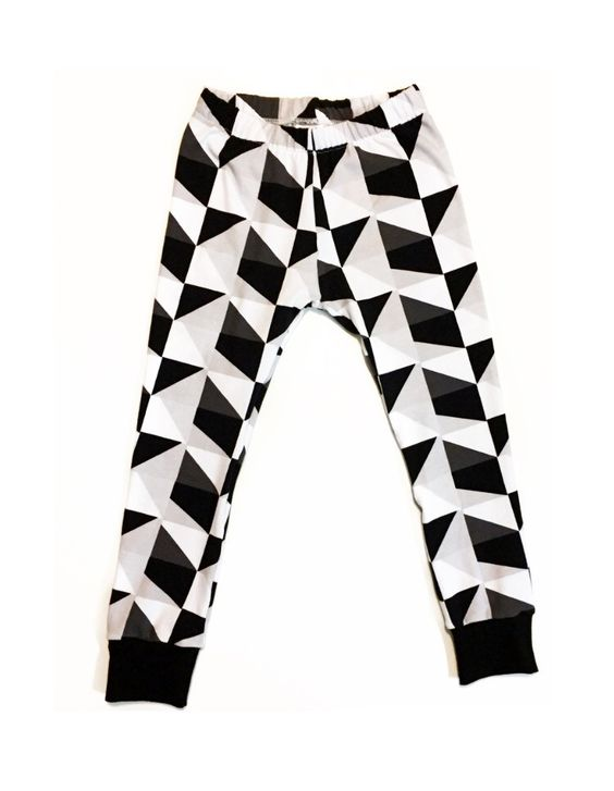 Monochrome Geometric Leggings