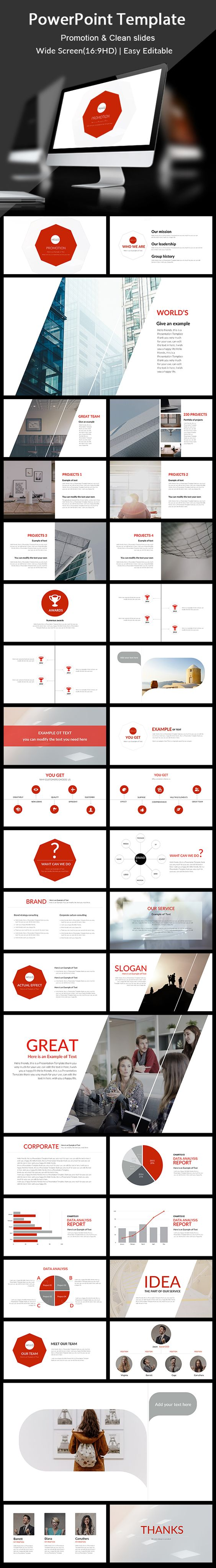 Promotion - PowerPoint Presentation Template. Download here: https://graphicriver.net/item/promotion-powerpoint-presentation-template/17328443?ref=ksioks