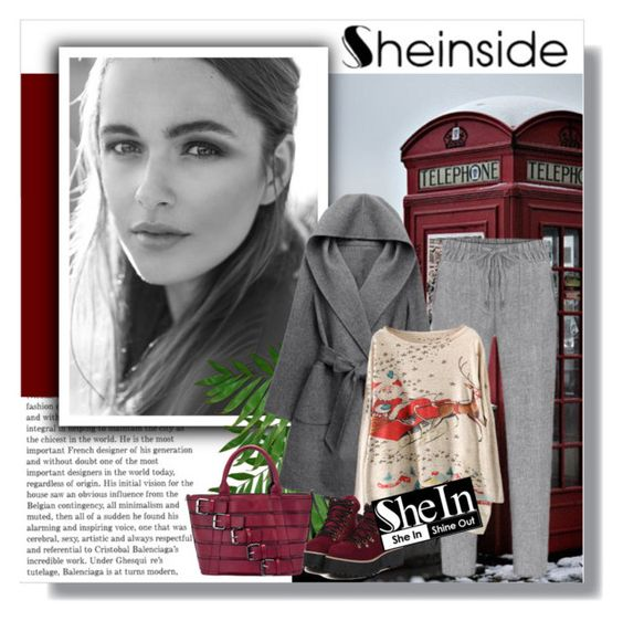 """""""Coat """"Sheinside"""""""" by nukslucks ❤ liked on Polyvore featuring WithChic, Sheinside and shein"""