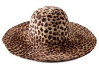 leopard wide brimmed chapeaux