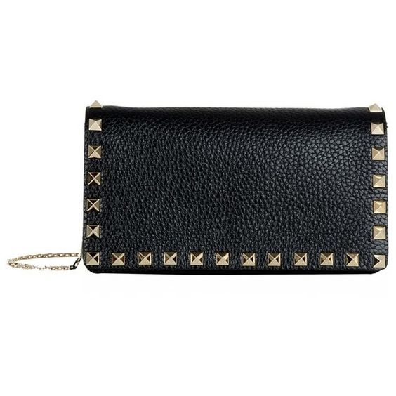 Valentino Mini Rockstud Shoulder Bag ($895) ❤ liked on Polyvore featuring bags, handbags, shoulder bags, over the shoulder bag, mini handbags, chain handle handbags, miniature purse and mini purse