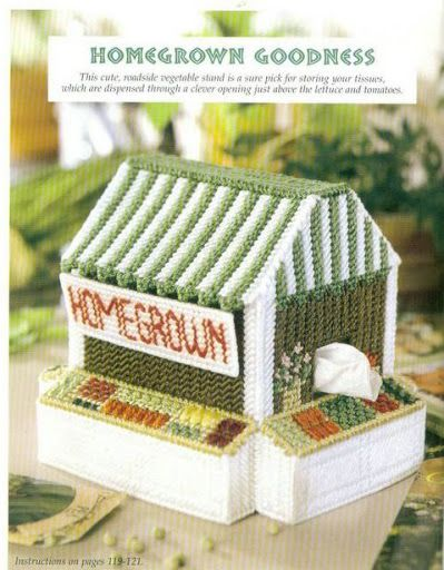 Homegrown Goodness Tissue Box Cover {S}