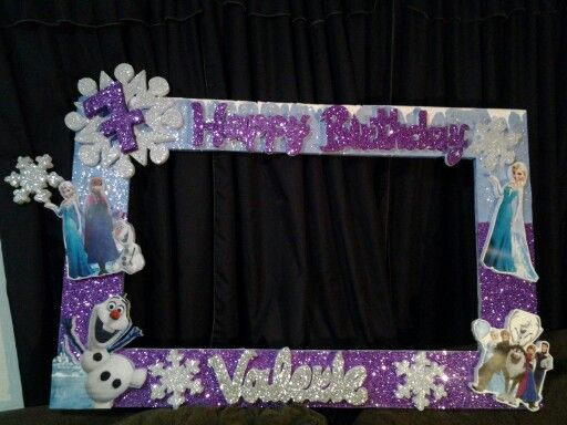 Frozen party frame.: