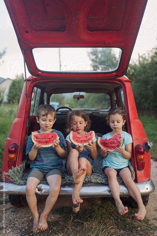 Лето, дети, арбуз. #summer #children #watermelon