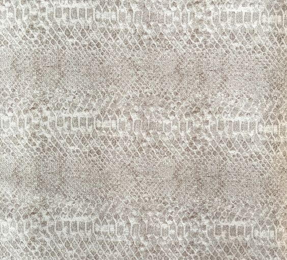 Rayon/Polyester blend. Light copper tone with metallic silver throughout. Stunning on dining chairs!