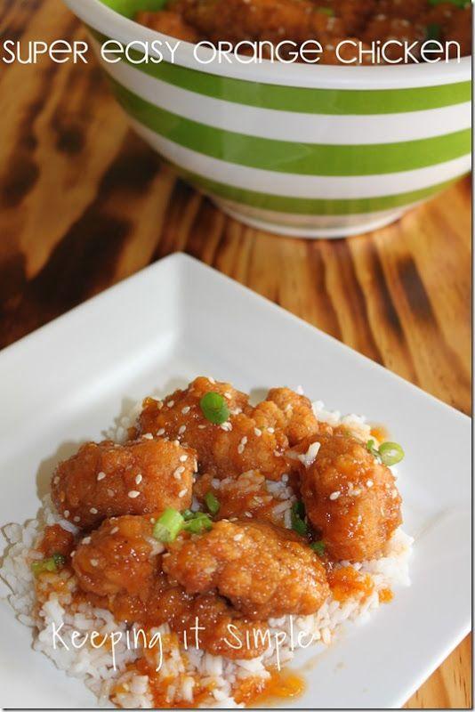 Super easy orange chicken recipe #recipe @keepingitsimple