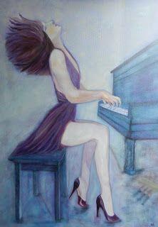 Mes réalisations : LA PIANISTE...L'une de mes dernières toiles (elle ...