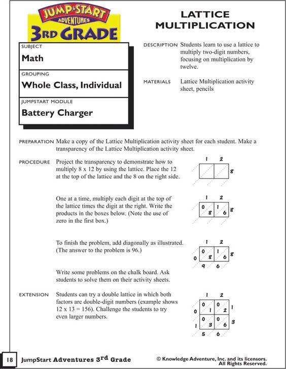 multiplication problems multiplication and lattices on pinterest. Black Bedroom Furniture Sets. Home Design Ideas