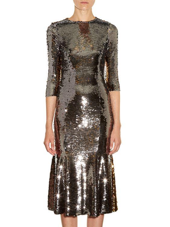 Bi-colour sequinned midi dress | Dolce & Gabbana | MATCHESFASHION.COM