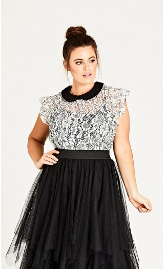 Lady Victoria Lace Top from City Chic