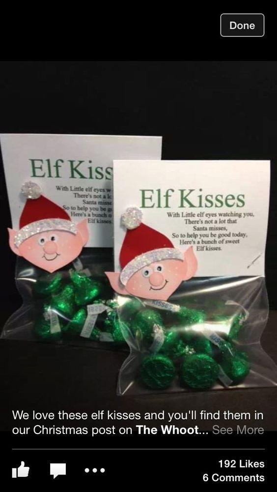 Elves kiss and hershey s kisses on pinterest