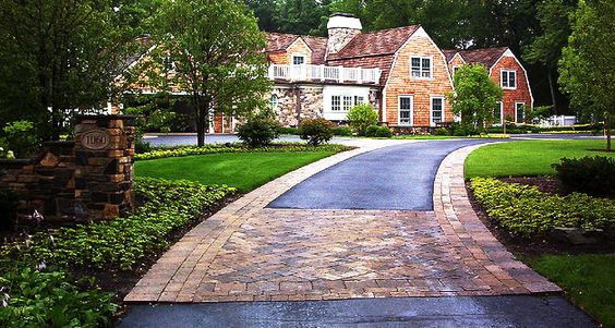 Asphalt driveway driveway ideas and driveways on pinterest for Driveway apron ideas