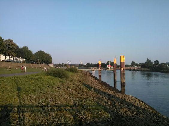 Im Hintergrund das Weserstadion.