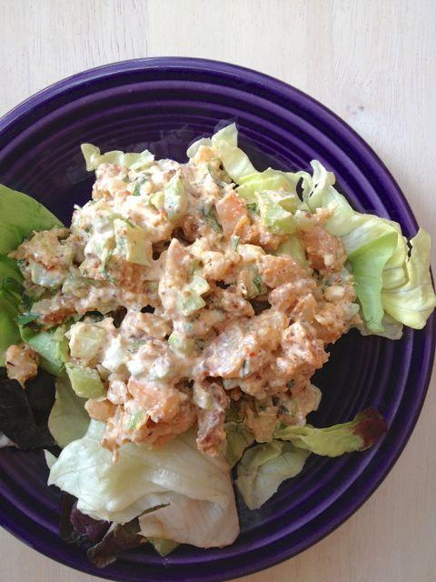 Creamy Shrimp Salad (uses 1 Tbsp cottage cheese) 4 oz shrimp, peeled ...