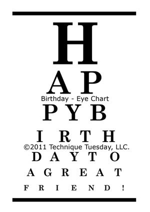 Just used this eye chart stamp from Technique Tuesday again the other day. Forgot how much I love it.