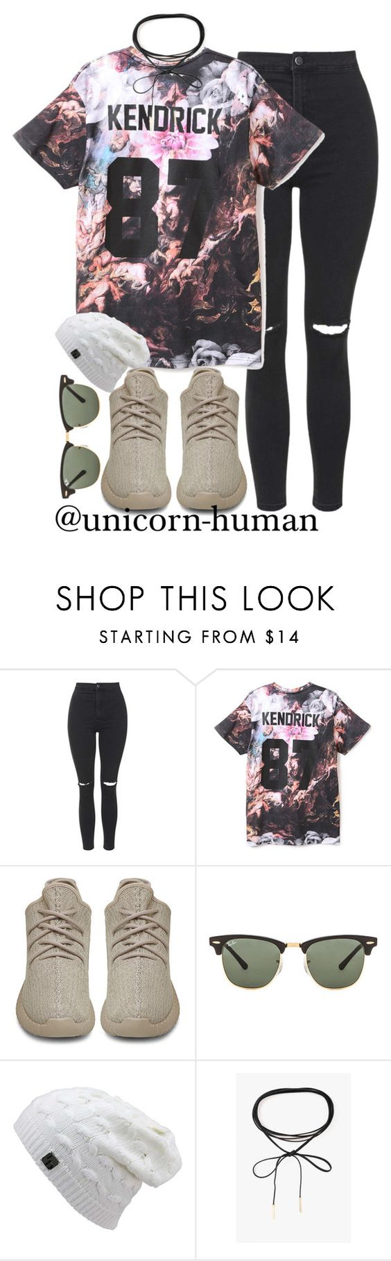 """""""Untitled #2514"""" by unicorn-human on Polyvore featuring Topshop, ElevenParis, adidas Originals, Ray-Ban and Azalea"""