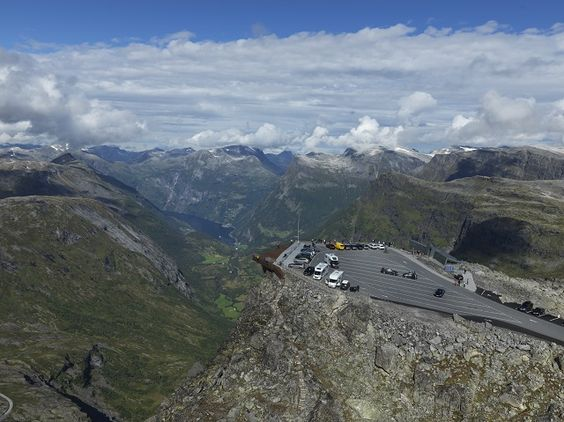 Geiranger Skywalk - Dalsnibba overview with fjord