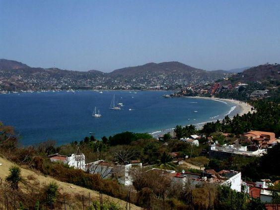 Vista de la Bahía de Zihuatanejo Gro Mexico
