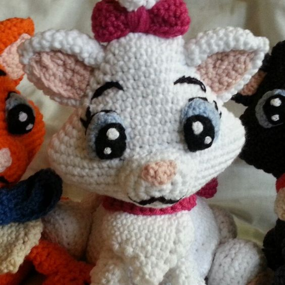 Marie Belioz Toulouse - 3 kittens from Aristocats crochet pattern for all three of them. Listing for the finished cats will be available very soon